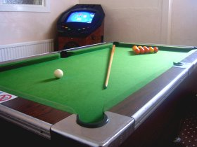 Wellington Hotel, Blackpool - Games Room. Playing Pool.